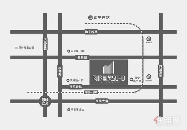 凤岭菁英SOHO区位图