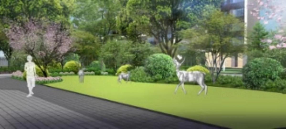 龙光阳光河畔园林效果图