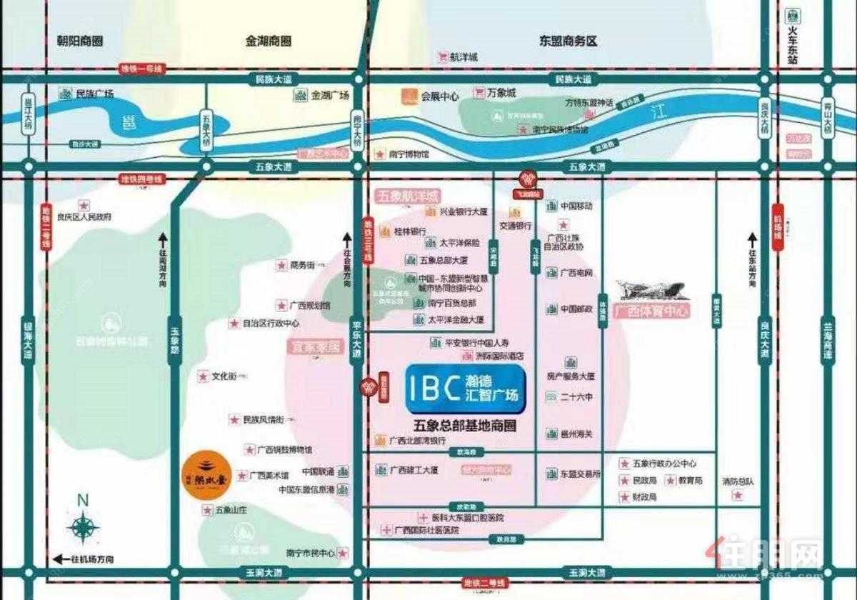 瀚德•IBC汇智广场区位图