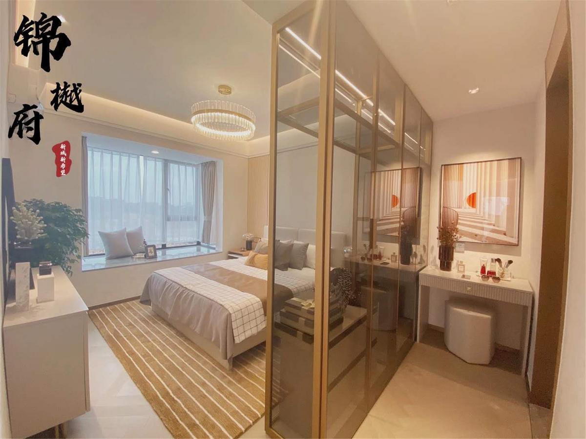 锦樾府110㎡户型3+1房卧室