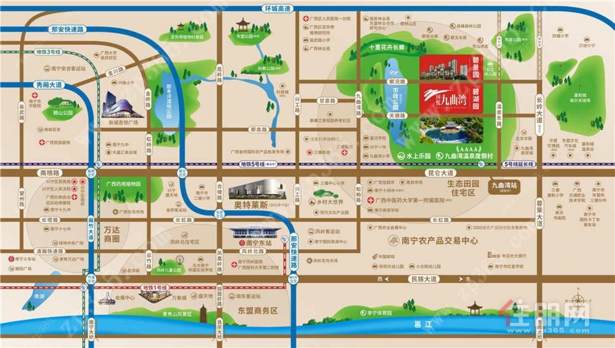 国悦九曲湾区位导航图