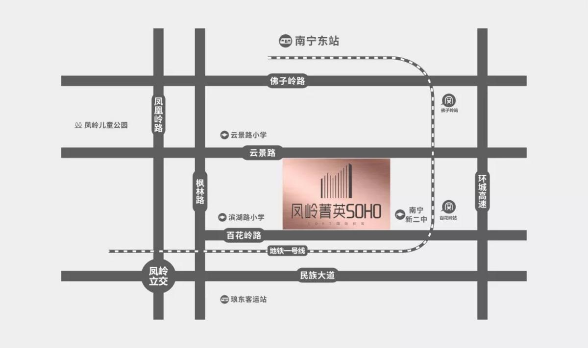 鳳嶺菁英SOHO區位圖
