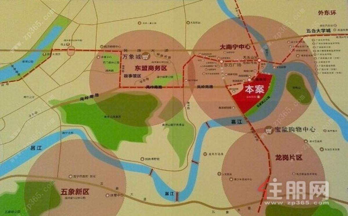 龙胤花园交通图