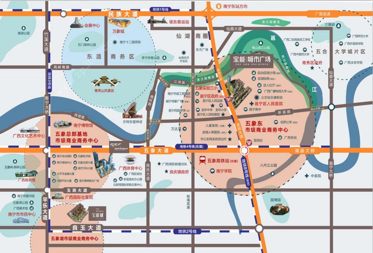 宝能城市广场区位图