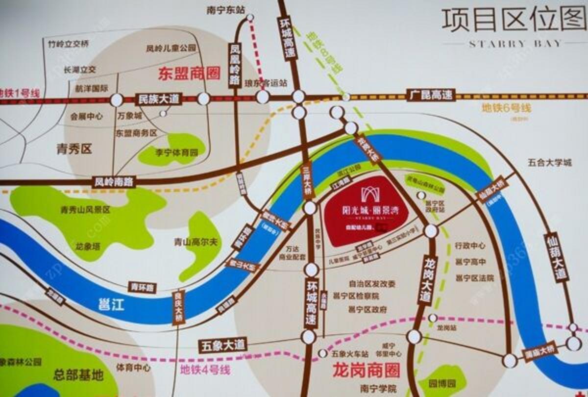 阳光城丽景湾区位图