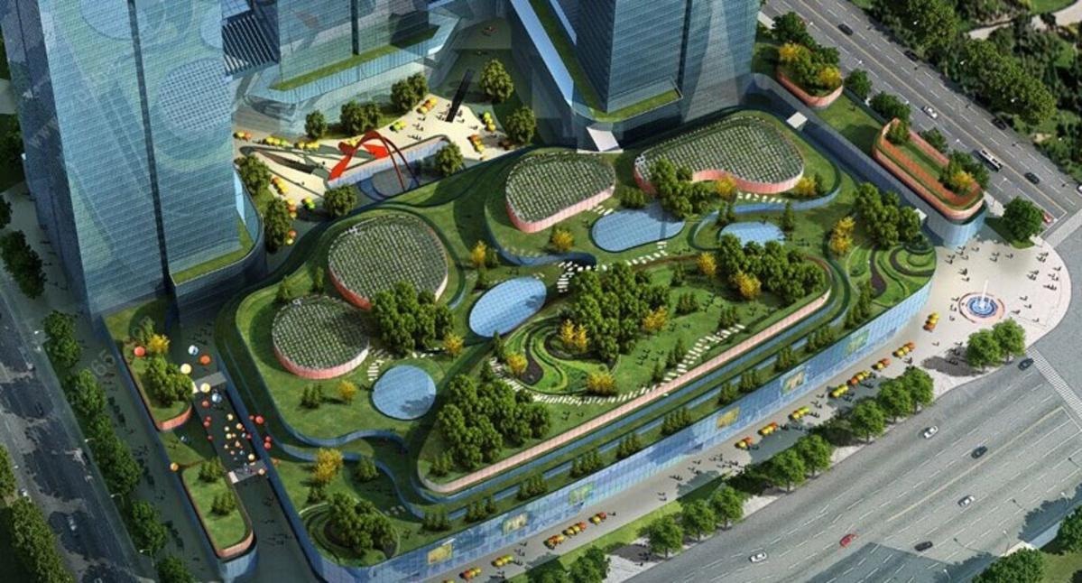 南宁恒大国际中心空中花园效果图
