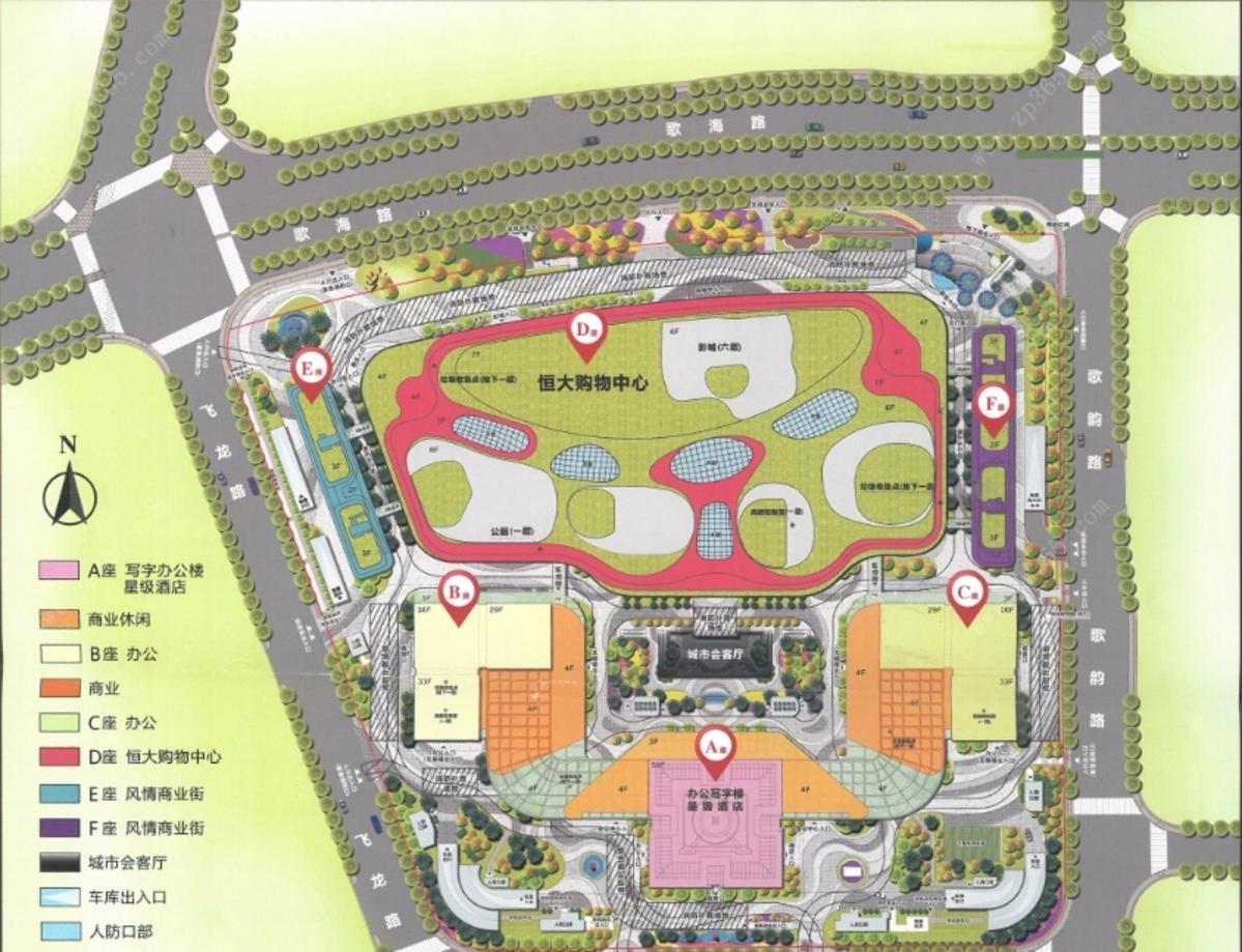 南宁恒大国际中心平面图