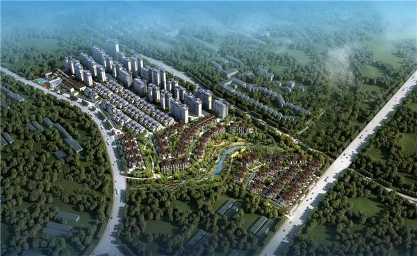 南宁五象智慧健康城项目鸟瞰图