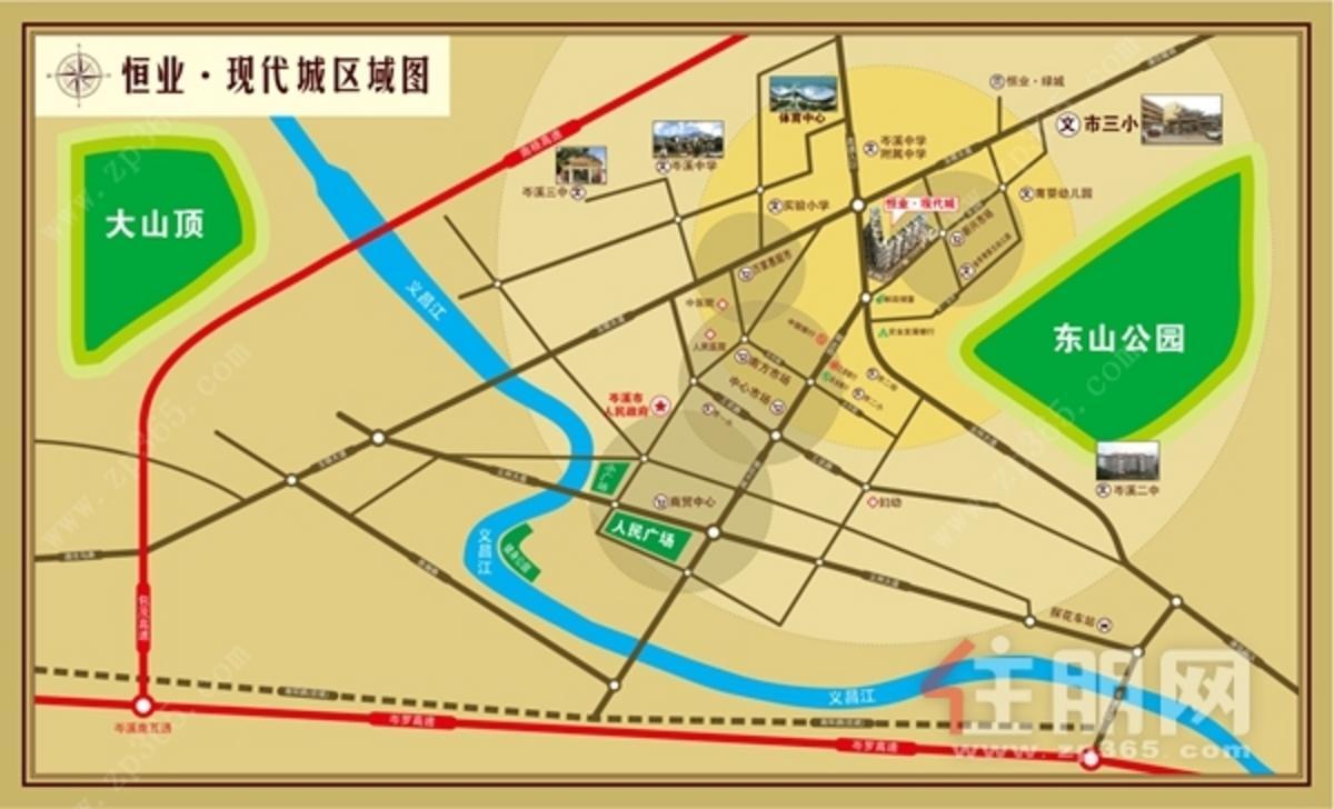 恒业现代城位置图