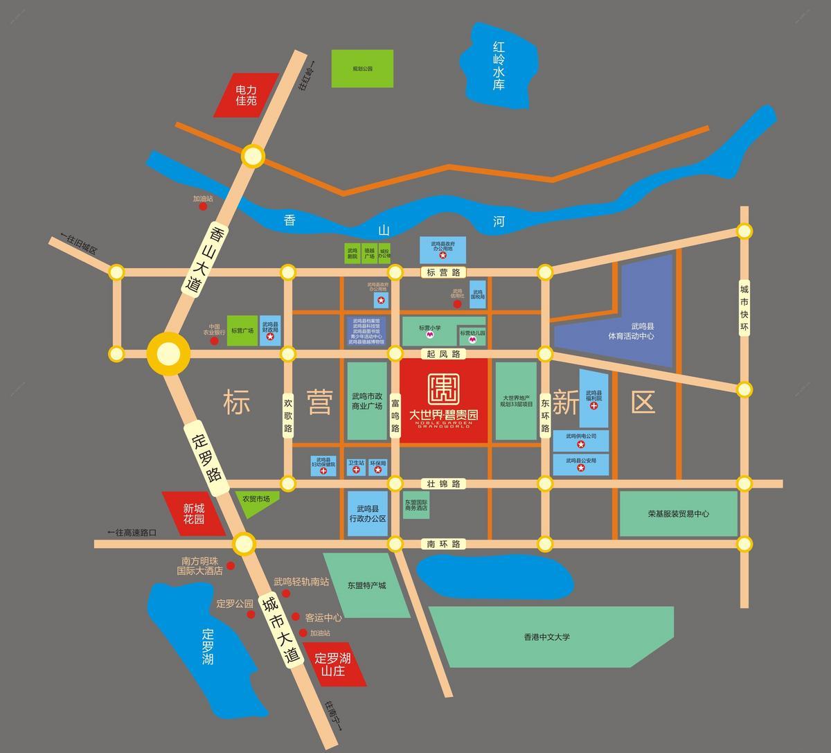 大世界·碧贵园区位图