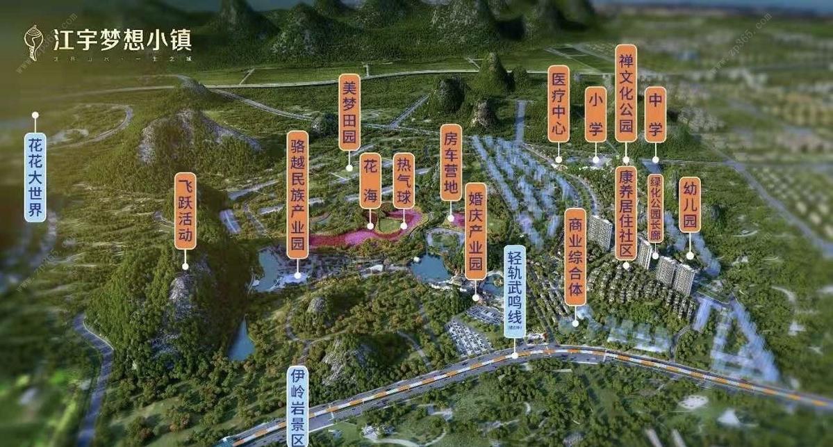 江宇梦想小镇区位图
