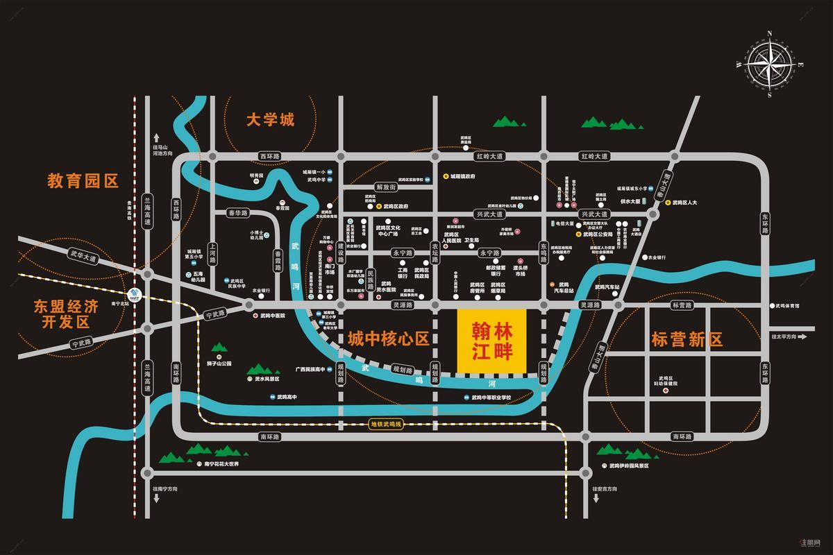 翰林江畔区域布置图