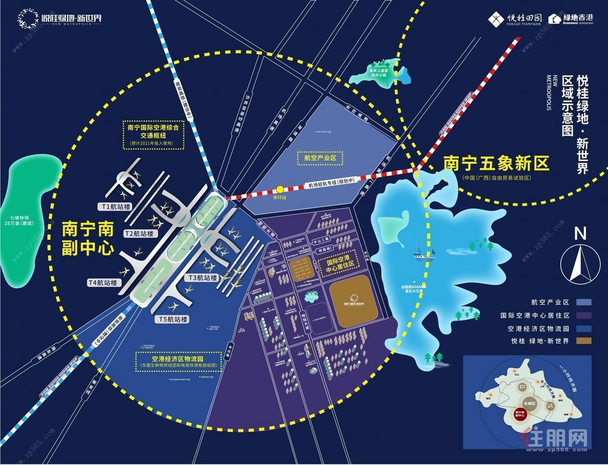 悦桂绿地新世界区位图