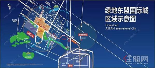 绿地东盟国际城区位图