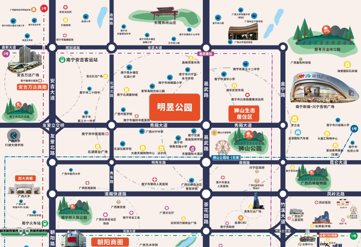明昱公园交通图