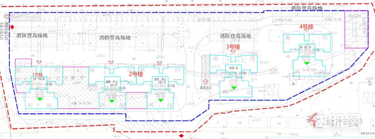 威宁青川里总平面图