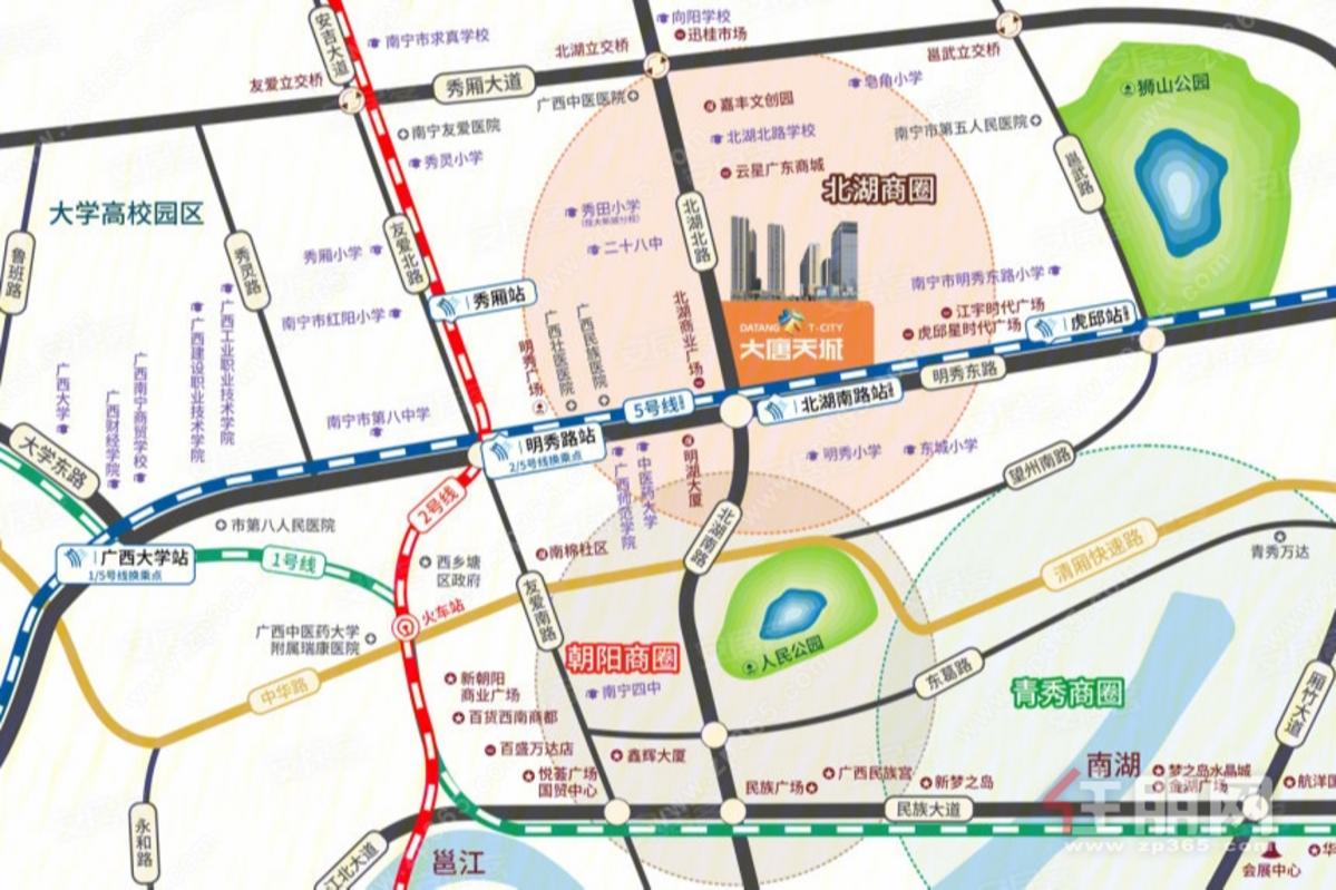 大唐天城區位圖