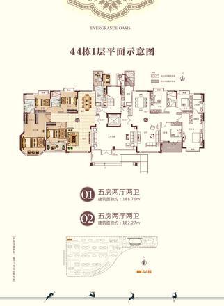 44栋1层平面示意图