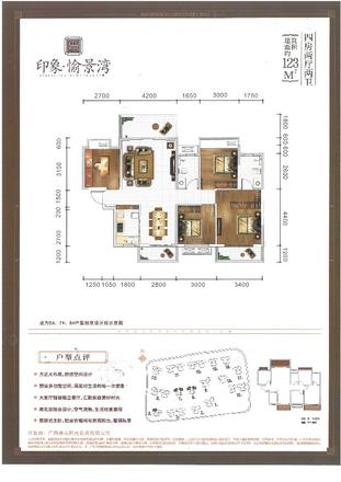 5#7#8#123㎡户型|4室2厅2卫1厨3阳台
