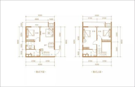 公寓B户型3房2厅2卫