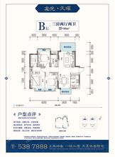龙光天曜1/2#B1户型98㎡