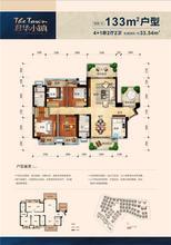 松灵小镇133㎡户型图