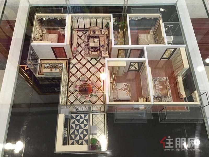 振宁·星光广场133㎡户型模型|4室2厅2卫1厨2阳台