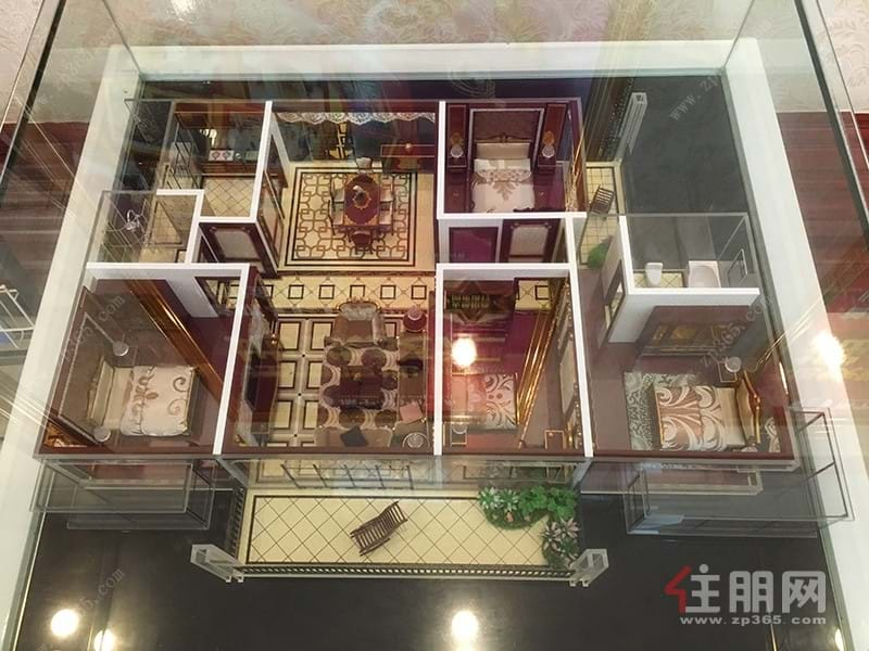 振宁·星光广场135㎡户型模型|4室2厅2卫1厨3阳台