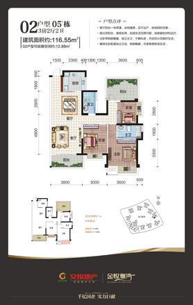 金悦澜湾116㎡02户型图