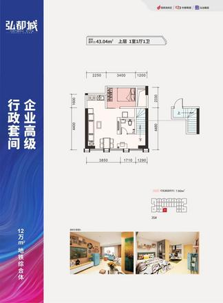 公寓43.04㎡户型