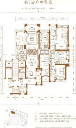1#楼482㎡户型图