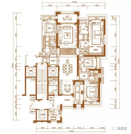 3#楼316㎡户型图