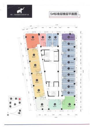 5#楼标准城平面图
