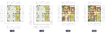 C户型427.51平米,4层,2层商铺5
