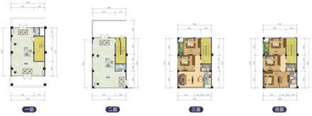 F户型431.8平米,4层,2层商铺5房