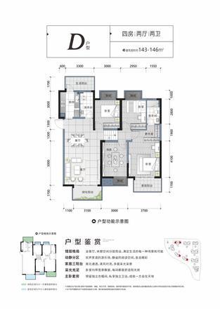 D户型|4室2厅2卫1厨3阳台