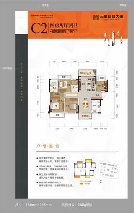 C2户型|4室2厅2卫1厨2阳台