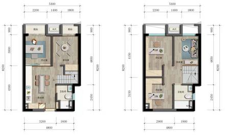 公寓55㎡