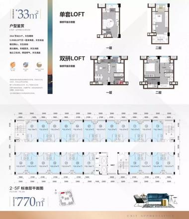 33㎡LOFT公寓户型图