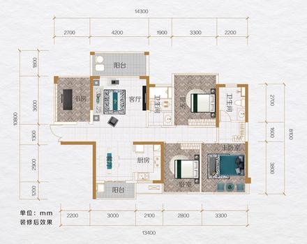 C3四房户型