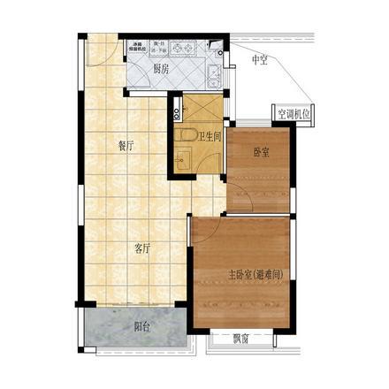 86㎡ 两房两厅一卫.jpg
