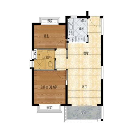 87㎡两房两厅一卫.jpg