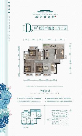 D8户型125㎡