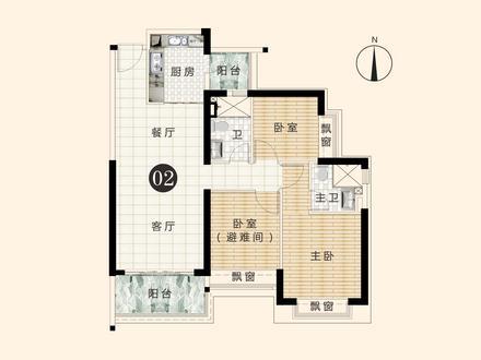 3室2厅2卫户型