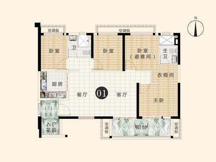 4房2厅2卫户型