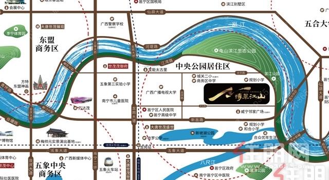 10月1号玉林置业南宁龙岗片区:世茂·金科 博翠江山-五象澜庭府