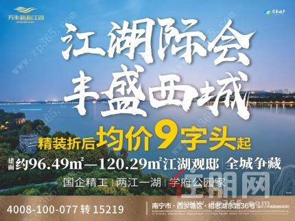 西乡塘【万丰新新江湖】96-120㎡三至四房   首开9字头精装交付  天天接送!