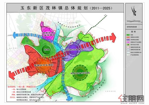 一、规划背景   根据玉林市城市总体规划和城乡规划法的要求,为了科学指导广西玉林市玉东新区茂林镇健康持续发展,推进社会主义新农村建设,加快城乡一体化建设发展,玉东新区组织编制了《玉东新区茂林镇总体规划(2011-2025)》,现对规划予以公示。   二、规划区范围和用地规模   规划区范围为整个茂林镇辖区(镇域)范围,总规划用地面积为83.