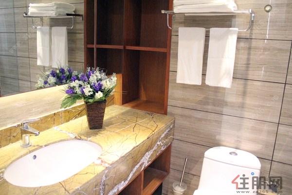 卫生间在标准的旅馆样式上做了些许改进