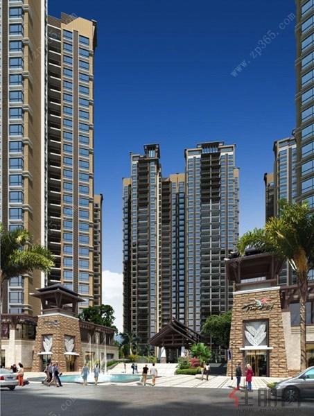 成,配套有群楼商业及住宅区服务设施.建筑风格为东南亚风格,采用